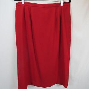 Worthington Woman Red Stretch Pencil Skirt 18